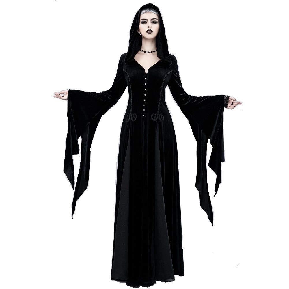 Steampunk Victoria Gothic Punk Vampire Show Girl Dress, Women's Skirt Black Lace, Party Dress Steampunk Costume, Women's Gothic Steampunk Vintage Dress, Black/halloween ( Size : F.XL-2XL )