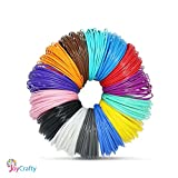 3D Pen Filament Refills - 1.75mm ABS 280 Linear Feet (20 foot each) Total 14 Different colors fun pack. 4 Glow In The Dark Colors.