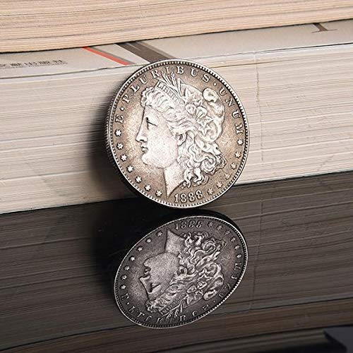 Swovo Commemorative Coin Dollar 1888 Year Silver Coin Morgan Antique Dollar American Currency Collection Home Room Office Decoration Memorabilia Gift 1PCS