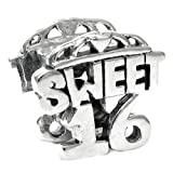 Sterling Silver Sweet 16 Heart Love European Bead Charm