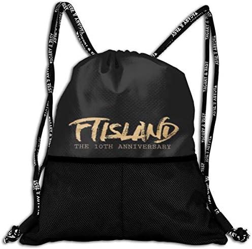 Ftisland (4) ナップサック アウトドア ジムサック 防水仕様 バッグ 巾着袋 スポーツ 収納バッグ 軽量 バッグ 登山 自転車 通学・通勤・運動 ・旅行に最適 アウトドア 収納バッグ 男女兼用 ジムサック バック