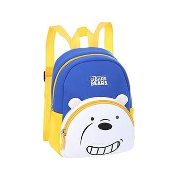 9c7068f35aa1d6 Amazon.com | YOURNELO Kid's Cartoon Contrast Color We Bare Bears Rucksack  School Backpack Bookbag (Ice Bear) | Kids' Backpacks