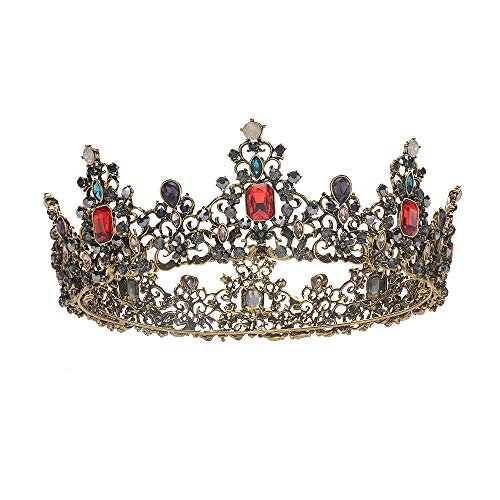 S SNUOY Baroque Vintage Queen Crowns for Women