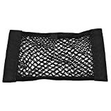 Car Storage Net of 2 Pack, Trunk SUV Seat Back Rear Organizer Elastic Net with Magic Sticker Double Layer