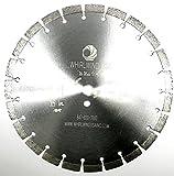 Whirlwind USA TSS 14 inch 15mm segment Laser Welded Dry or Wet Cutting General Purpose Segmented Diamond Saw Blades Cutting Concrete and Masonry (14'' 15mm seg)