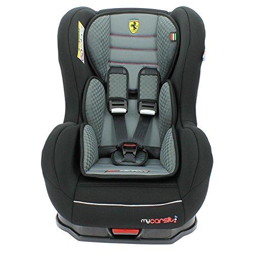 Mycarsit Siège Auto Isofix Ferrari, Groupe 1 (de 9 à18 kg), Gris