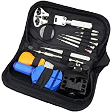 Watch Repair Kit Professional for Watch Back, Watchband, Watch Battery, Fits Watch, Clock, and Wristwatch, Includes Spring Bar Tool, Case Opener, Link Remover, Zippered Bag, 13 Piece