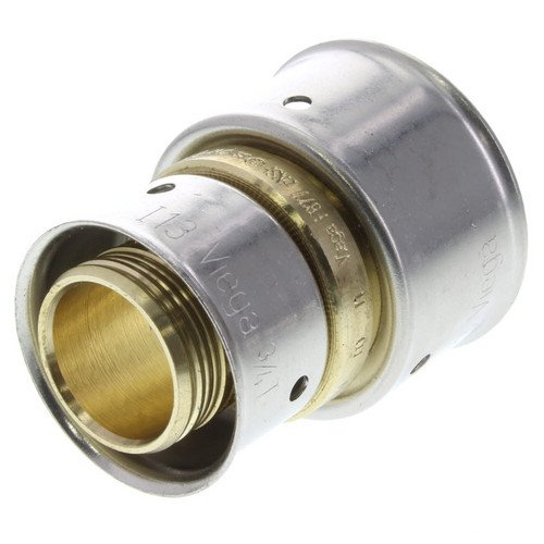 Zero Lead Bronze 3/4inch x 1inch PEX Press Coupling whit Attached Sleeve