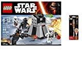 LEGO Star Wars First Order Battle Pack 88PCS & Star Wars Projector Pen, Colors may vary Playsets Building Toys
