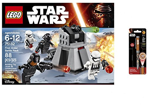 LEGO Star Wars First Order Battle Pack 88PCS & Star Wars Projector Pen, Colors may vary Playsets Building Toys (Lego Star War People)