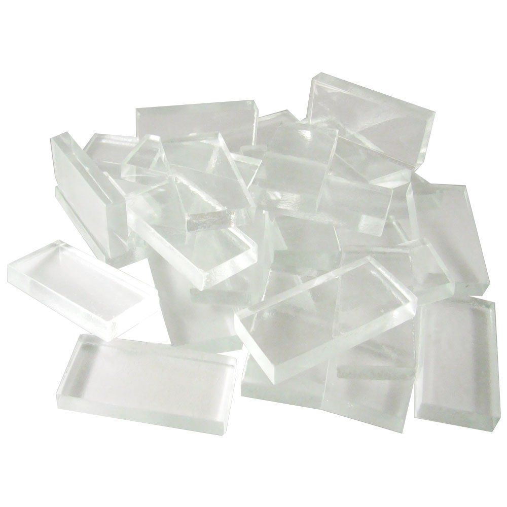 Diamond Tech 1-7/8-Inch-by-7/8-Inch Clear Glass Crafting Tiles, Sheet of 72