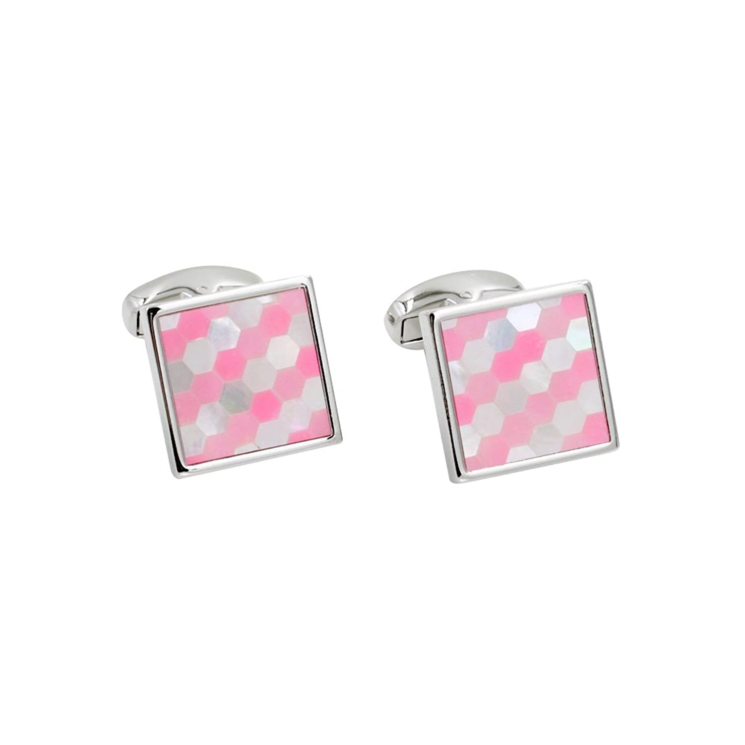 Mosaic Pink Cufflinks | 5 Yr Warranty | Cufflinks Box Inc | Premium Cuff Links | Mens Birthday Gift