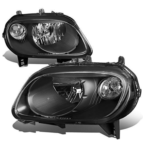 Chevy HHR Pair Black Housing Clear Corner Headlight LS LT 2LT SS Turbocharged (Headlight Hhr Assembly)
