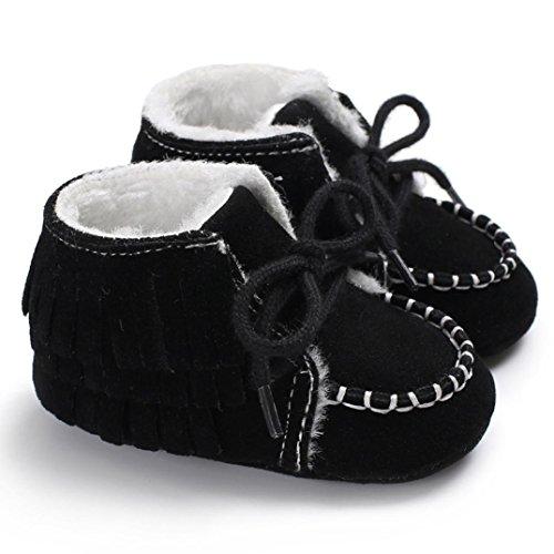 bf320cefe35bc Longra Bébé Fille Garçon Chaussures premiers pas Hiver Ultra Épais Chaud  Doux Bottines chaussure pour enfant botte enfant pointure bébé chaussure de  marque ...