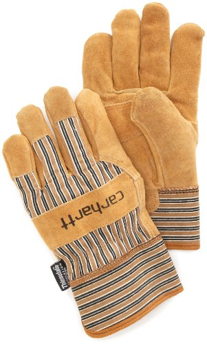 Carhartt Men's Insulated Suede Work Glove with Safety Cuff, Brown, Medium