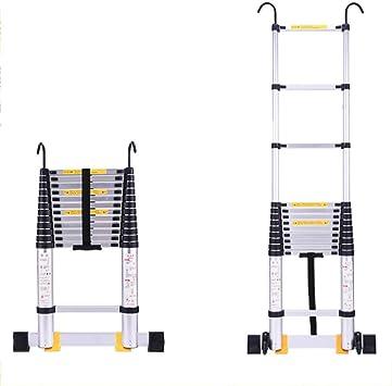 HLL Escalera, 6.2M Escalera de Aluminio, para Ministerio Loft, extensible a 116cm 620Cm / 16 Pasos Capacidad de carga 150Kg,+ Gancho recto escalera: Amazon.es: Bricolaje y herramientas