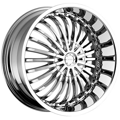 Strada Spina 22 Chrome Wheel / Rim 5x4.5 & 5x120 with a 40mm Offset and a 74.1 Hub Bore. Partnumber S16250140 ()