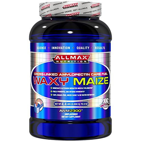 ALLMAX Nutrition, Waxy Maize, Cross-Linked Amylopectin Carb Fuel, Unflavored, 70.6 oz (2,000 g) - 3PC by ALLMAX NUTRITION