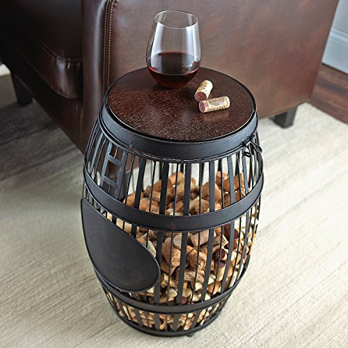 Wine Enthusiast Barrel Cork Catcher Accent Table by Wine Enthusiast (Image #1)