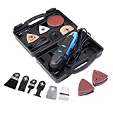 Goplus Multifunction Oscillating Multi-Tool 80PCS Oscillating Tool Saw Kit for Wood Plastic and Metal