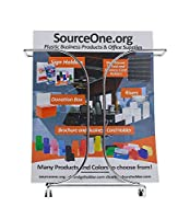 Source One 6 Pack Premium Metal Full Size 8 1/2 wide Brochure Holder, Magazine Rack (S1-78145-6)