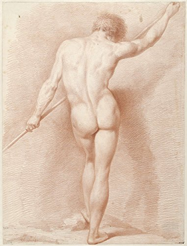 """Classic Art Poster - Standing male nude, seen from the back, Jacob Ernst Marcus, 1802 18.5"""" x 24"""""""