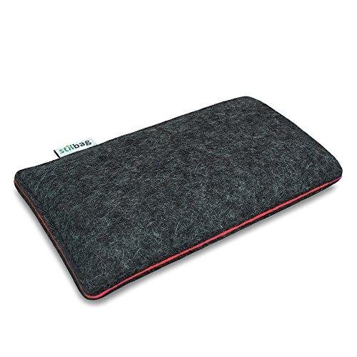 Stilbag Filztasche 'FINN' für Apple iPhone 5 - Farbe: anthrazit/lachs