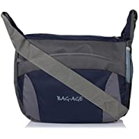 Bag-Age Unisex 15 Ltrs Polyester Blue Messenger Bag