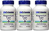 Cheap Life Extension Magnesium Vegetarian Capsules, 500 mg, 100 Count (Pack of 3)