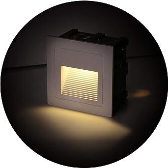 Topmo-plus conjunto de 4 LED luz del piso 3W Lámpara de vestíbulo Escalera al aire