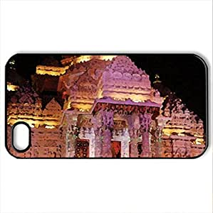 Akshardham ( India ) - Case Cover for iPhone 4 and 4s (Ancient Series, Watercolor style, Black)