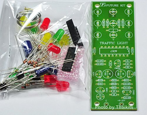 TRAFFIC LIGHT 4 WAY 12 LED unassembled kit for electronic student CD4017 project [FK148]