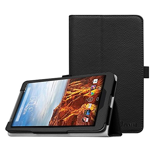 Fintie Verizon Ellipsis 8 Case (Model QTAQZ3) 2014 Release - Slim Fit Premium PU Leather Cover with Stylus Loop for Verizon Ellipsis 8 Tablet, Compatible with Verizon Ellipsis Kids, Black