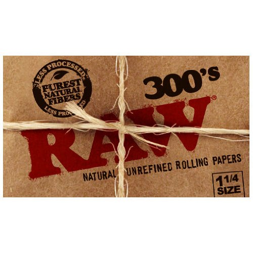 RAW-300-Unrefined-Classic-125-1-14-Size-Cigarette-Rolling-Papers-1-Pack-300-Leaves