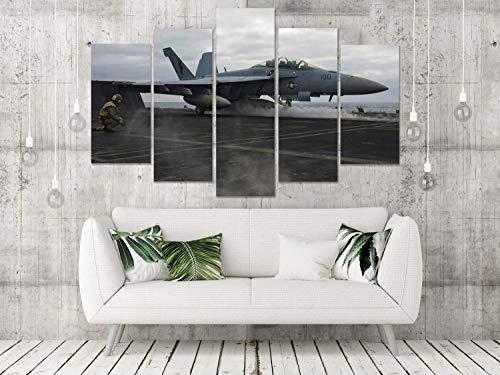 F-18 SUPER HORNET MILITARY AIRCRAFT PLANE MULTI PANEL BOX FRAMED CANVAS - Staples Shipping Tape