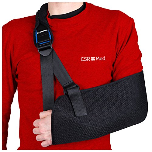CSRMed Adjustable Arm Sling for Men and Women (Padded Arm Sling)