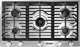 Dacor RNCT365GSNG 36'' Renaissance Natural Gas Cooktop with 5 Sealed Burners Die Cast Knobs Perma-Flame Technology Continuous Grates and Smart Flame Technology: Stainless