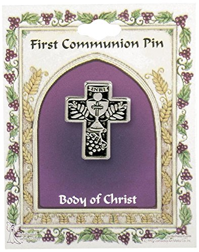 Cathedral Art PN00002 First Communion Cross Pin, Carded
