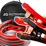 Heavy Duty Jumper Cables 1 Gauge x 25Ft. 900A Booster Cables STRONGEST and LONGEST cables with 100 Copper Jaws by AUTOGEN