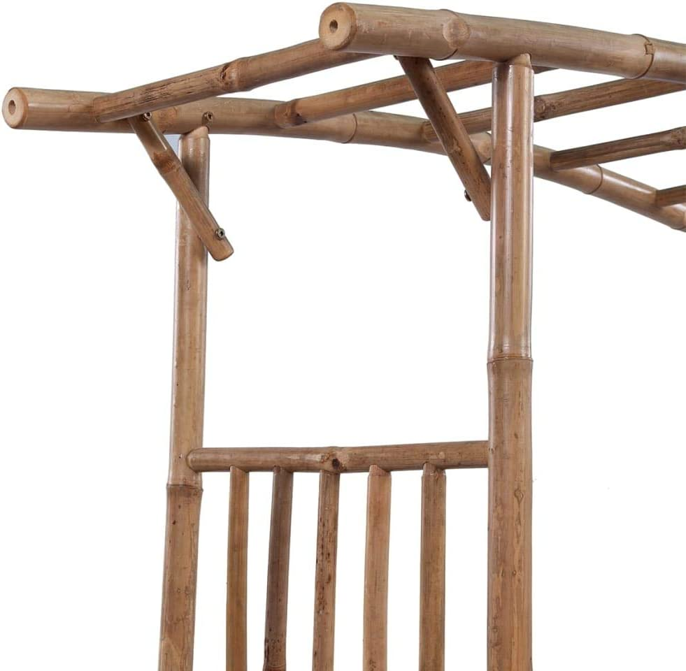 vidaXL Arco de Rosas para Jardín de Bambú 14 x40x195 cm Pérgola ...