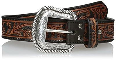 Nocona Men's Black & Brown Scroll Belt