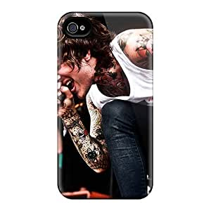 Scratch Protection Cell-phone Hard Covers For Iphone 4/4s With Customized High Resolution Bring Me The Horizon Band Bmth Pictures LauraAdamicska