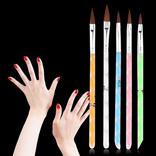 Renovatio Nails - 5 pc Nail Art Set Dotting Painting Drawing Polish Brush Pen Tool Nail Art Dot Set #DT05]()