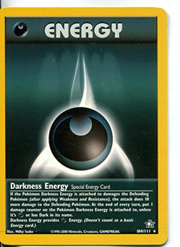 Wizards of the Coast Pokemon Neo Genesis Rare Card #104/111 Darkness Energy