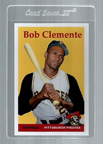 Roberto Clemente Memorabilia (Roberto Clemente Pittsburgh Pirates Baseball Card. Career Stats on The Back with)
