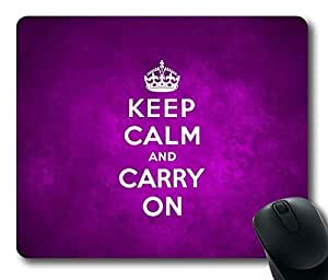Keep Calm and Carry on Print Magenta Background Rectangle mouse pad Your Perfect Choice