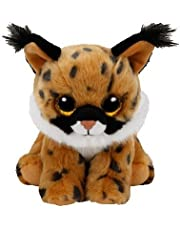 TY - Beanie Babies Larry, peluche lince, 15 cm, color marrón (United Labels Ibérica 41205TY)