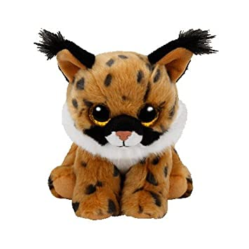 TY - Beanie Babies Larry, peluche lince, 15 cm, color marrón (United