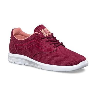 7be4e68dfcf Vans Women s Iso 1.5 Skateboarding Shoe (Mesh) Beet Red White (Medium