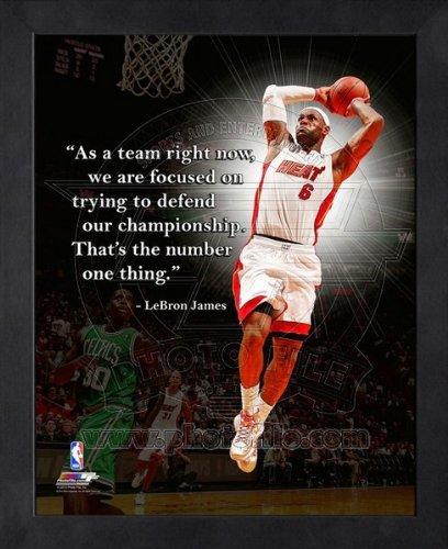Amazon.com: LeBron James Miami Heat Pro Quotes Framed 11x14 Photo #3 ...